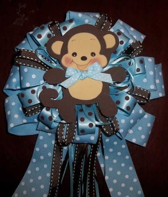 Mommytobe Baby Shower Monkey Corsage For A Girl By Designsbyemilys