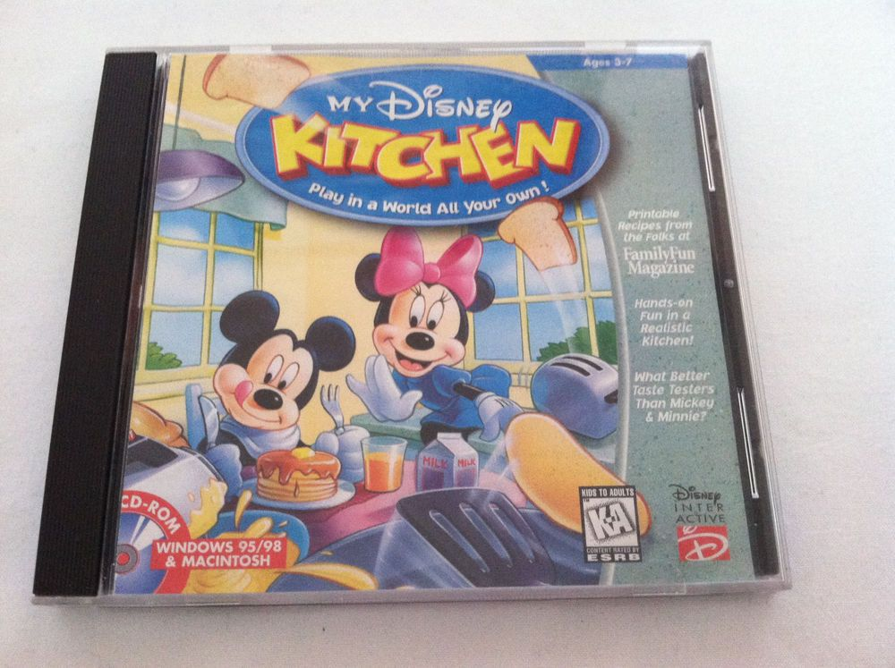 CD-Rom My Disney Kitchen Play in a World All Your Own!Kids Mickey ...