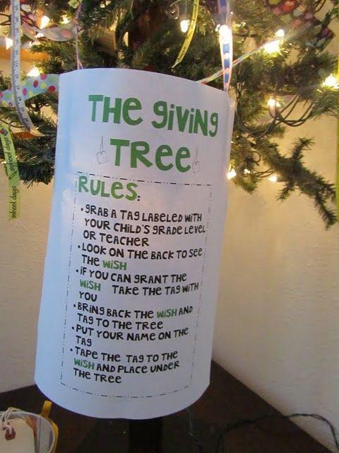 Christmas Giving Tree Ideas.The Giving Tree School Classroom Holiday Version School