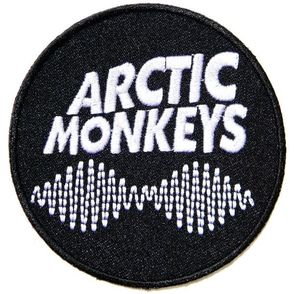 AM arctic monkeys Music Band Logo Patch Sew Iron on Embroidered... ($5.50) ❤ liked on Polyvore featuring bands