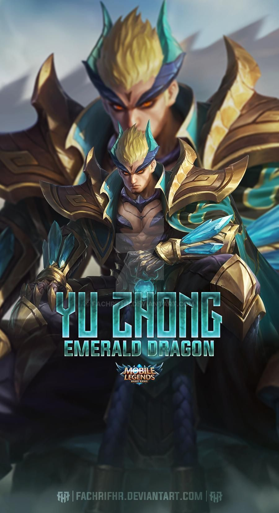 Yu Zhong Emerald Dragon By Fachrifhr On Deviantart Mobile Legend Wallpaper Mobile Legends Emerald Dragon