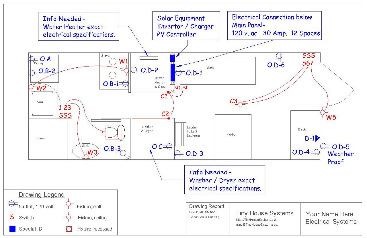 This would be your floor plan with the electrical system shown. Your ...