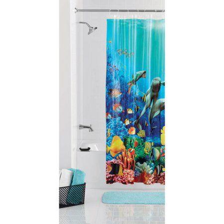 Mainstays Coral Reef Shower Curtain - Walmart.com | Home Decor ...