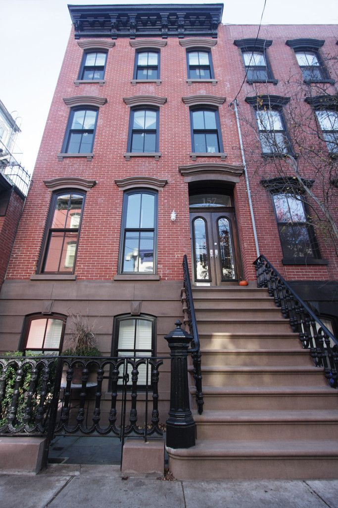 157 10th Street Hoboken Brownstone For Sale By Hudson Realty Group Townhouse Exterior Brownstone Homes Brownstone