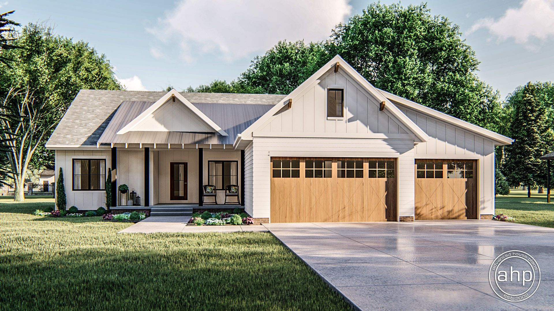 1 Story Modern Farmhouse Plan Meadow View In 2020 Modern Farmhouse Plans Modern Farmhouse Exterior Farmhouse Plans