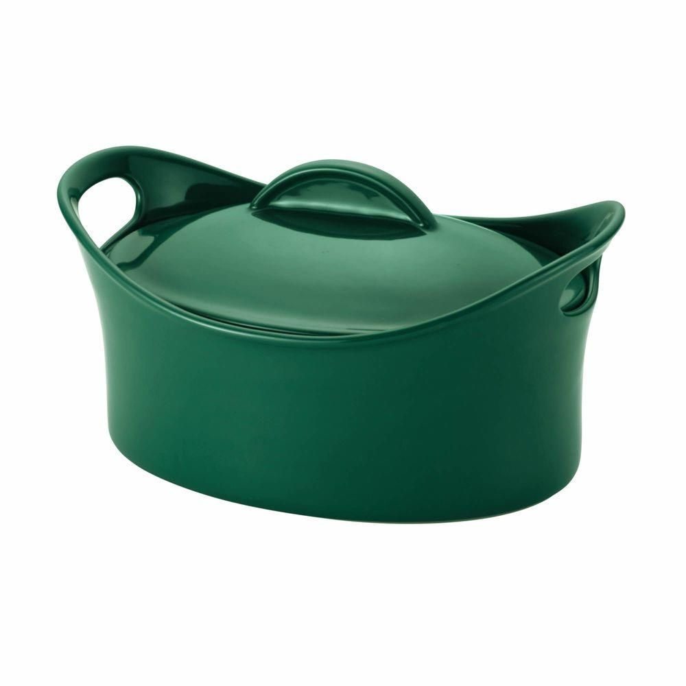Casseroval 4.25 qt. Covered Oval Baking Dish in Fennel