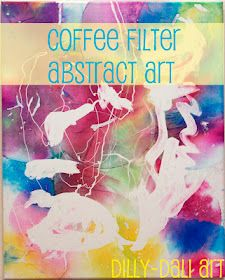 Abstract Art with coffee filters