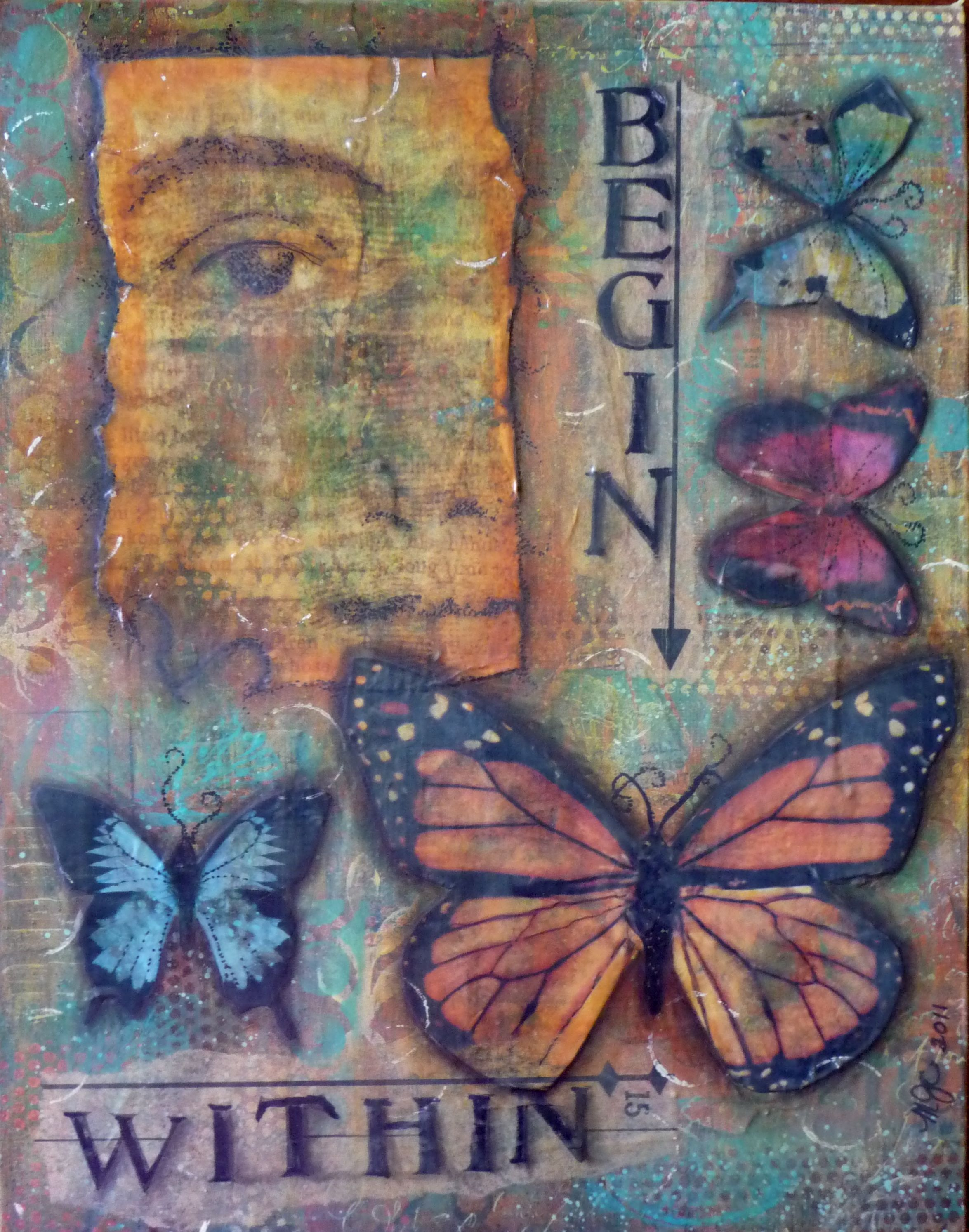 mixed media piece   art touches me   Pinterest   Mixed ...