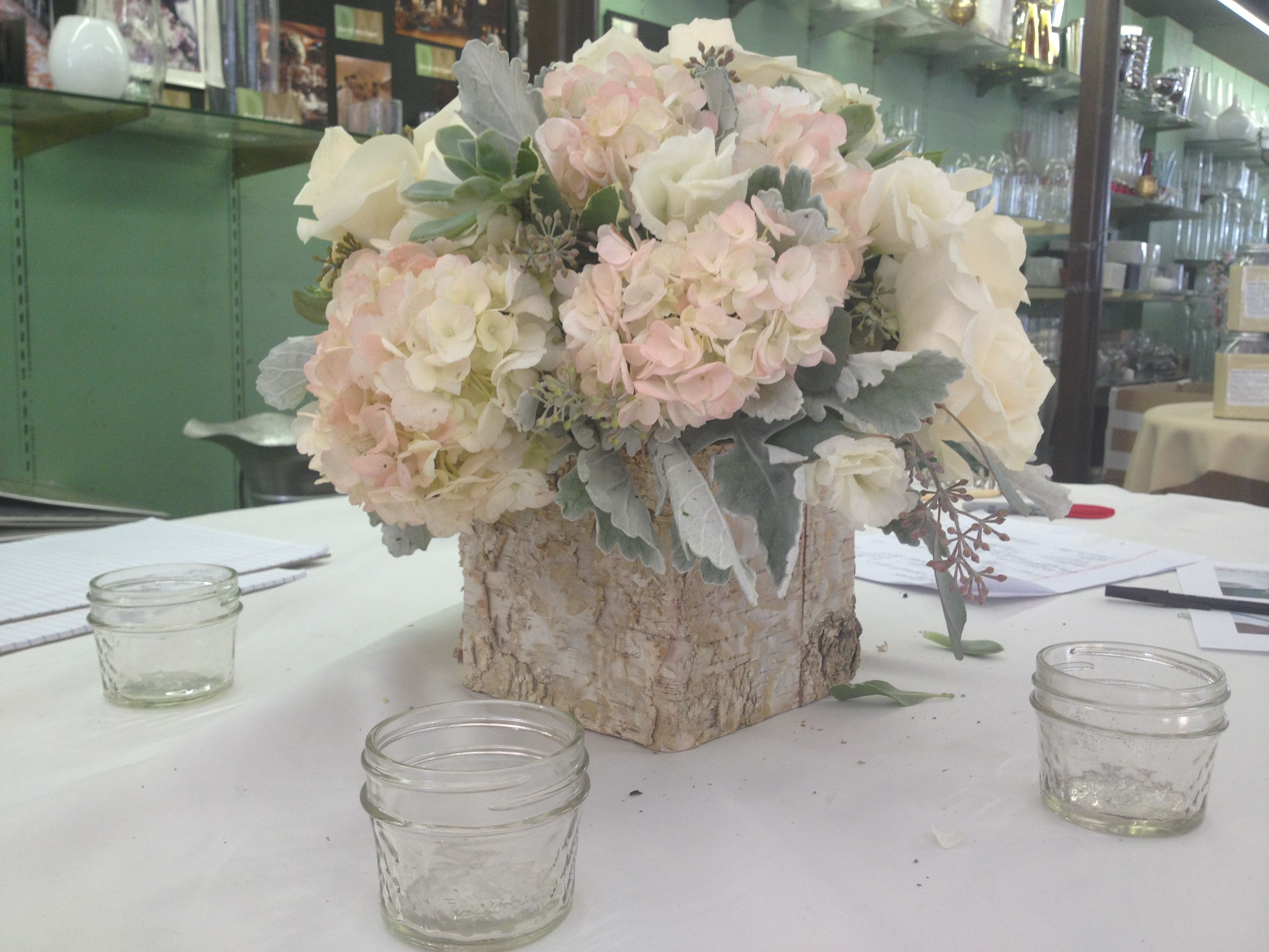 My Centerpieces. Birch wood box from save on krafts and ...