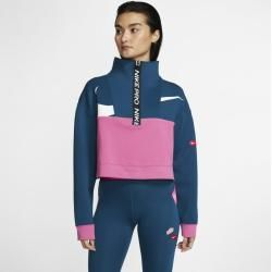 Photo of Giacca in pile Nike Pro Get Fit Icon Clash Half Zip per Donna – Blu Nike