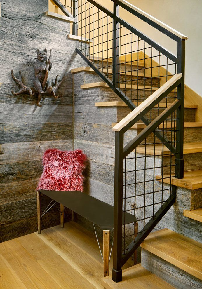Best Grid Patterned Rusted Metal Railing Staircase Rustic With 640 x 480