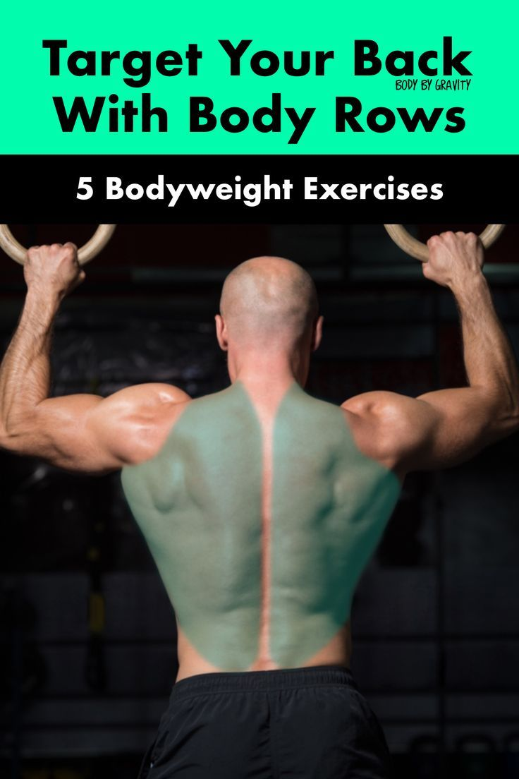 Use these 5 bodyweight body row variations to target your back muscles. Body rows are effective at g...