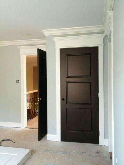 Brown Doors White Trim Home Black Interior Doors Stained Doors
