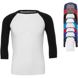 Cv3200 Canvas Unisex 3 / 4 Sleeve Baseball T-Shirt