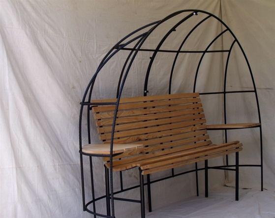 Rebar Trellis Bench