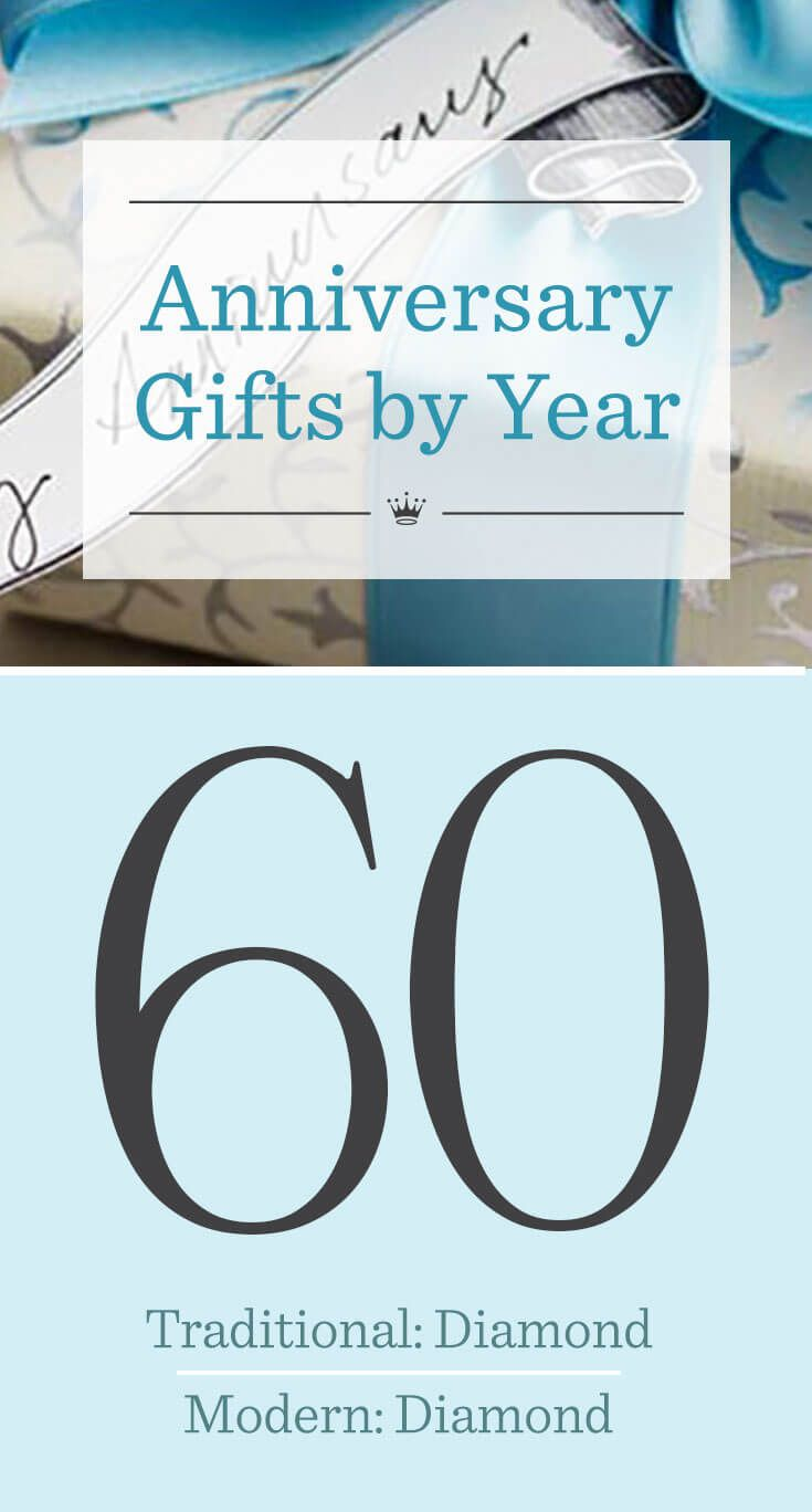 60th Wedding Anniversary Gifts | Looking for sixtieth anniversary gift ideas? Check the list of traditional and modern anniversary gifts by year from ...