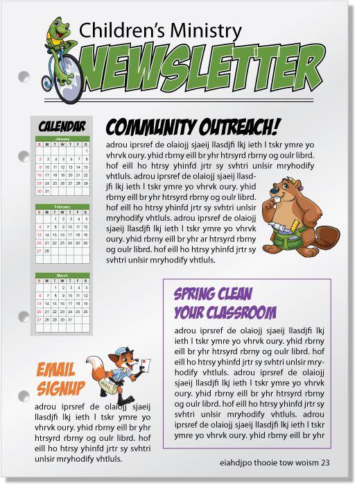 Newsletter Sample Childrens Ministry Children S Ministry