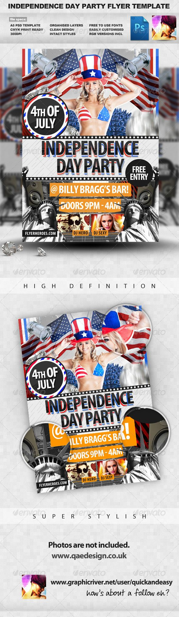Th July  Independence Day Flyer  Flyer Template Party Flyer