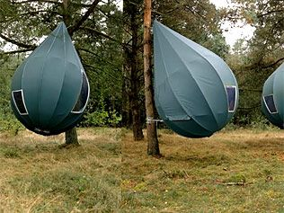 Tents hanging from trees & Weird wacky and useful travel gadgets | Tree tent Tents and Camping