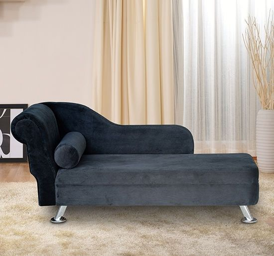 Luxury Velvet Chaise Sofa Chair Day Bed With Cushion Modern Living Room Black Classic Sofa Bed Modern Living Room Black Modern Living Room Inspiration
