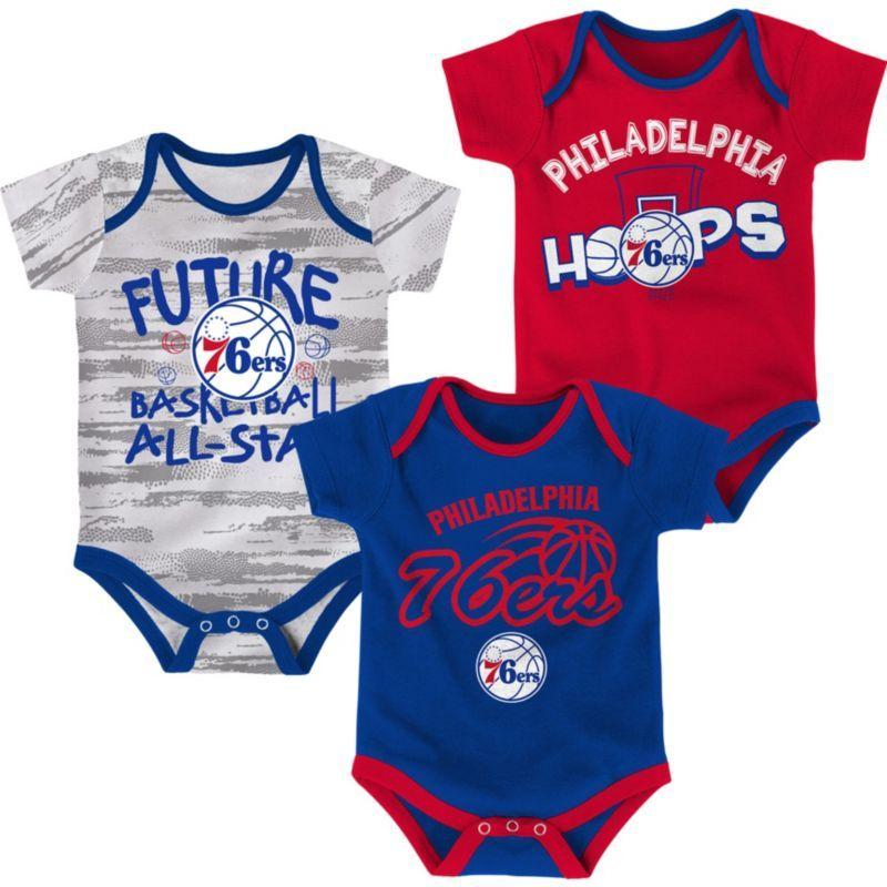 Nike Infant Philadelphia 76ers 3Piece Onesie Set, Size
