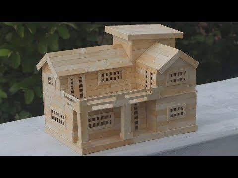 How To Make Popsicle Stick House Popsicle House Building Dream House Youtube Popsicle Stick Houses Popsicle House Popsicle Stick Crafts House