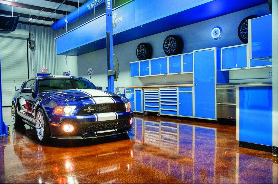 Majestic moduline garage storage cabinets on sky blue for Garage sprint auto stains