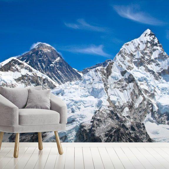 Everest and Lhotse Mountains Mountain wallpaper, Mural