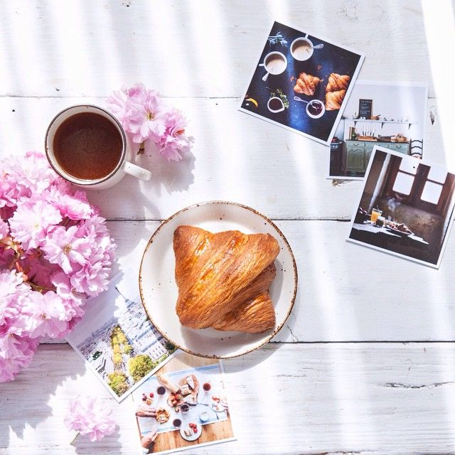 """Enjoying my morning croissant from @beaucoupbakery and reminiscing about Paris. Thank you @inkifi_instagram for these beautiful #prints!""  Thanks for sharing this image @sliceofpai.  Create your own Square Prints with Inkifi - http://inkifi.com/create-prints.html  #instagramprints"
