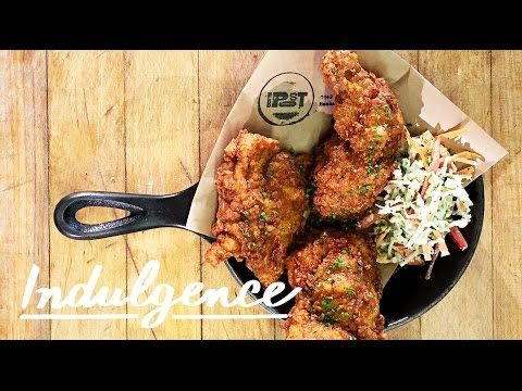 Fried chicken for brunch with truffle honey drizzled on top dishes forumfinder Image collections