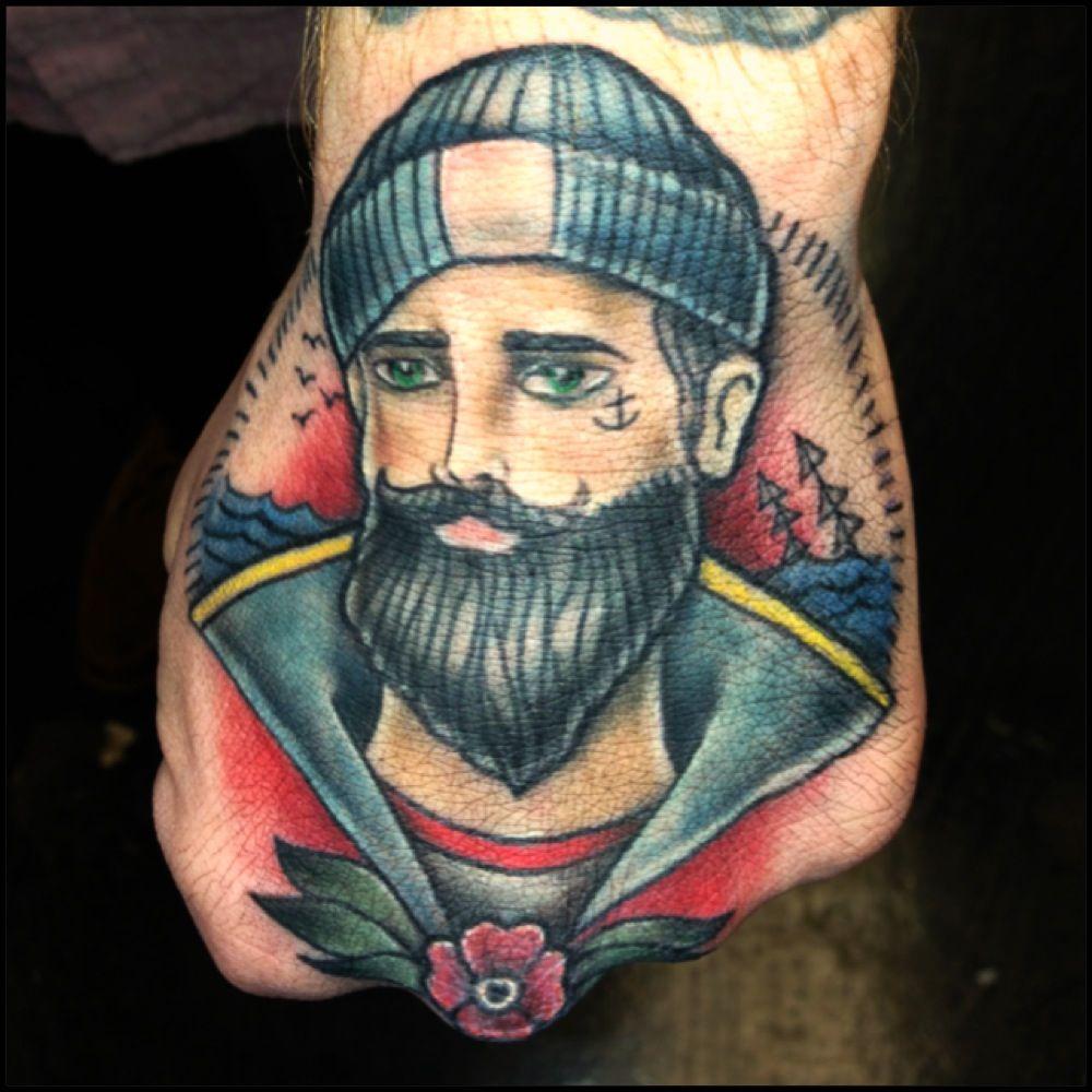 Gentleman sailor tattoo @Erykane Ink