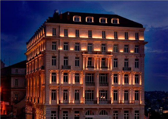 glowing facade