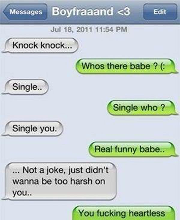 20 Break-Up Texts That Will Make You Want To Stay Single For Eternity (Photos)