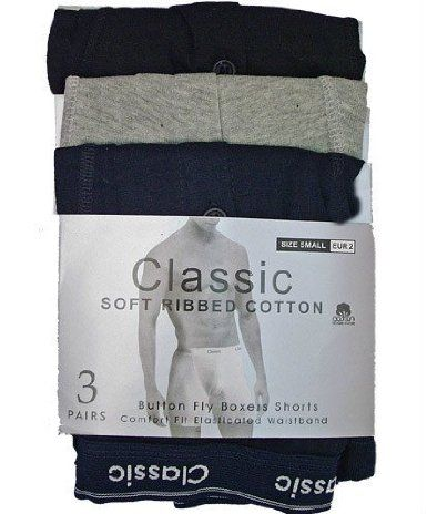 Calvin Classics Plain Colours Mens Boxers * Boxer Shorts (6