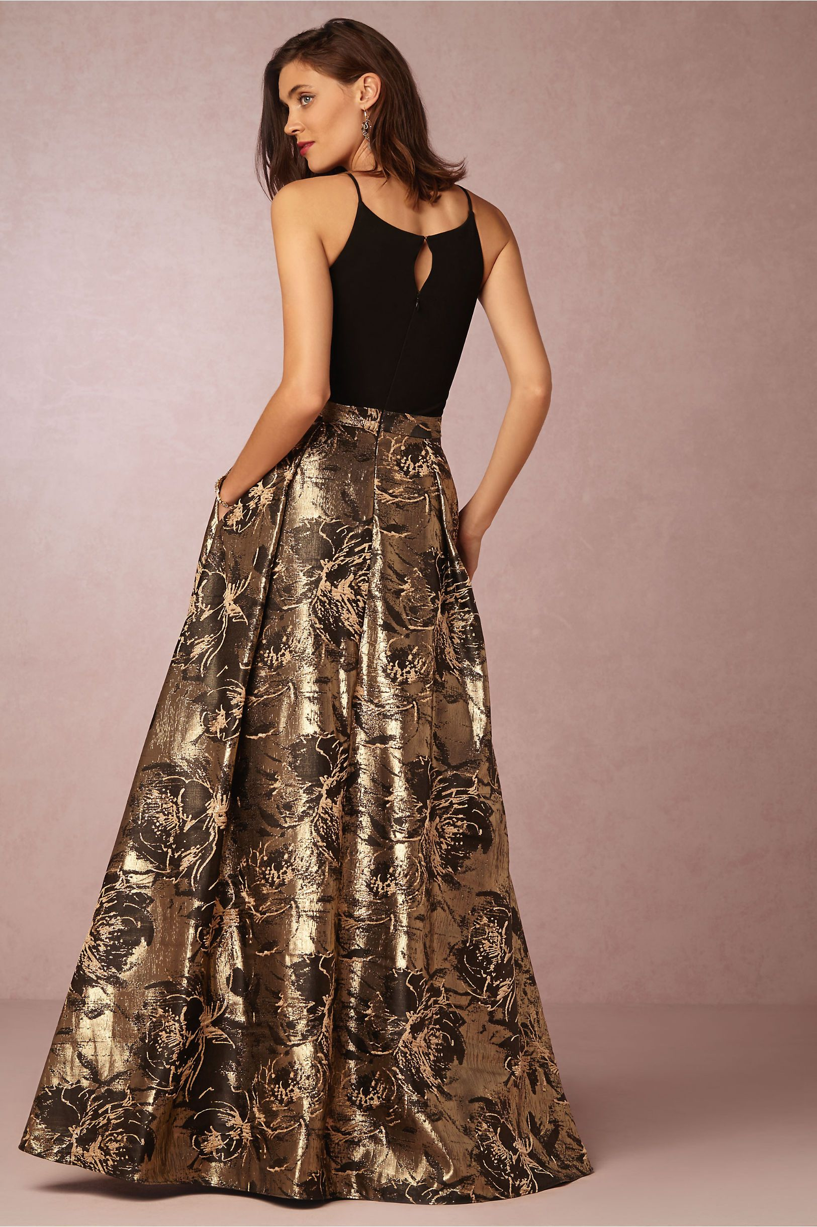 Evangeline Gown Dinner Dress Classy Black And Gold Gown Black Tie Event Dresses [ 2440 x 1625 Pixel ]
