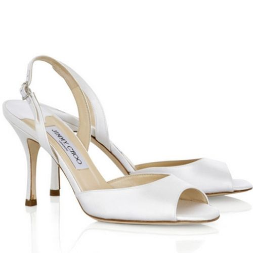 really for sale Jimmy Choo Satin Slingback Sandals free shipping for nice maLbYqXUK