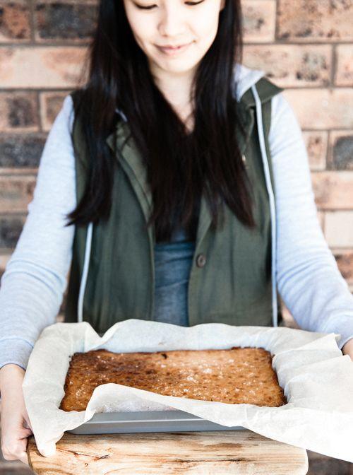 Burnt Butter Salted Caramel Slice - Erika Rax
