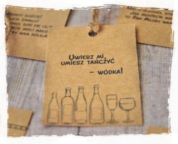 Wyjatkowe Zawieszki Na Alkohol Wesele Slub Eko 7065245609 Allegro Pl Wiecej Niz Aukcje Creative Wedding Invitations Cute Wedding Ideas Wedding Time