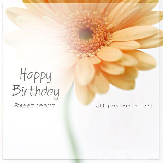 Happy Birthday Sweetheart Free Birthday Cards For Facebook – Free Birthday Cards for Facebook