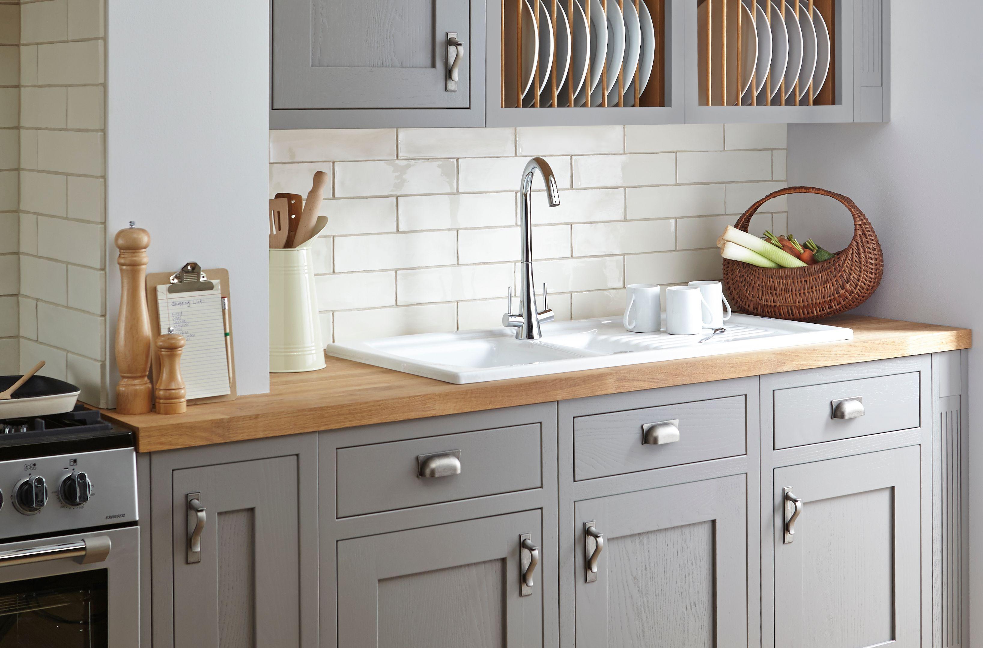 b&q kitchens the honest kitchen perfect form cooke lewis carisbrooke taupe framed diy at b q dolaplar