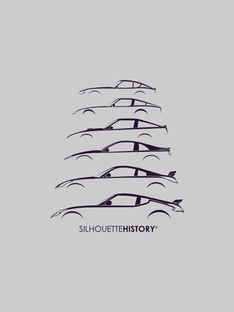nizzzmo z silhouettehistory silhouettes of the datsun  nissan  fairlady  z