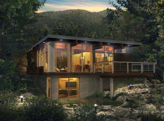 Natur a industries bonneville homes florida design pinterest palier maisons ext rieures for Mini maison usinee