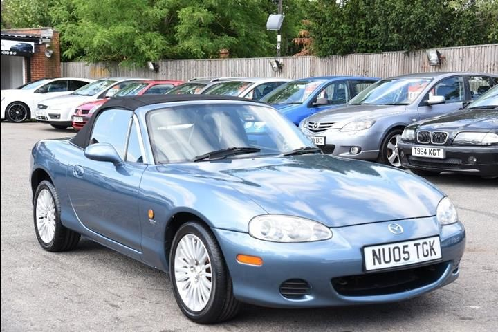 Model: Mazda Mx-5, Colour: Blue, Year: 2005, Mileage: 65180, Fuel: Petrol, Transmission: Manual, Body Type: Convertible, Price: £3,250