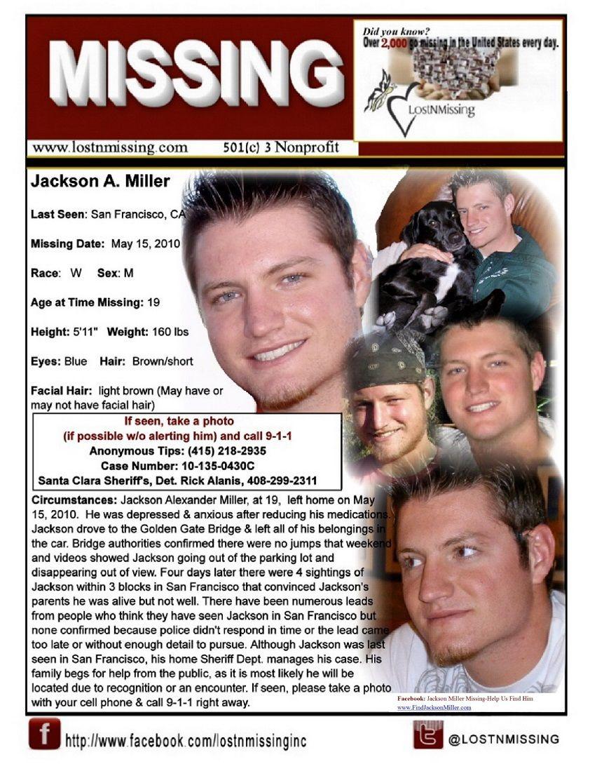 Jackson alexander miller missing since 2010 san