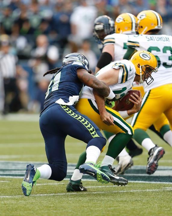 Bruce Irvin Sacks Aaron Rodgers Seattle Seahawks Football Seattle Seahawks Seahawks Football
