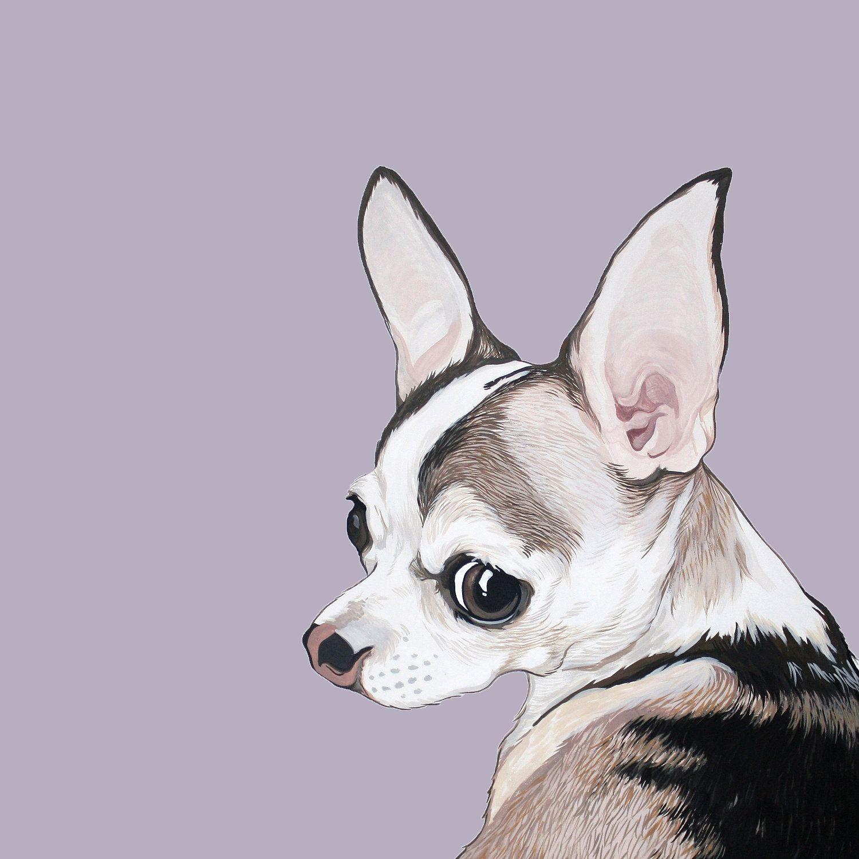 Custom Pet Portrait 11x11 300 00 Via Etsy Dog Art Pet Portraits Custom Pet Portraits