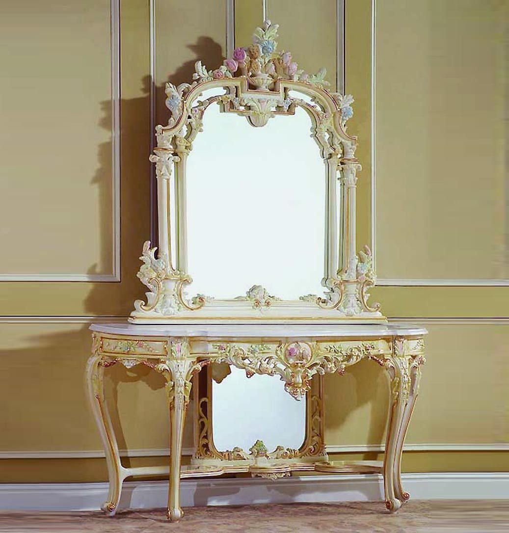 Vanity Table Inspiration   Baroque Console Table