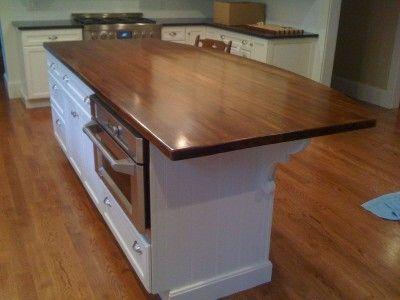 Custom Made Reclaimed Heart Pine Kitchen Island | Lake House Kitchen ...