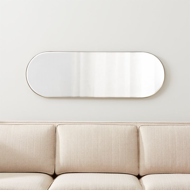Edge Brass Capsule Mirror Reviews Crate And Barrel Rectangle Mirror Crate And Barrel Mirror Wall