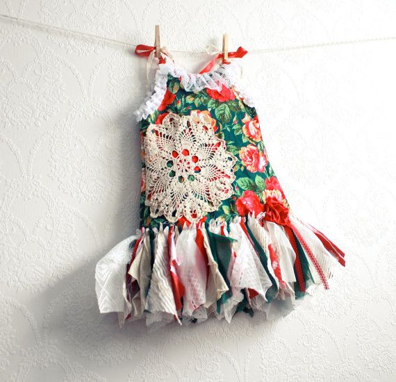 470f6cd4a Toddler Girl s Christmas Dress 3T Shabby Chic by MyFairMaiden ...